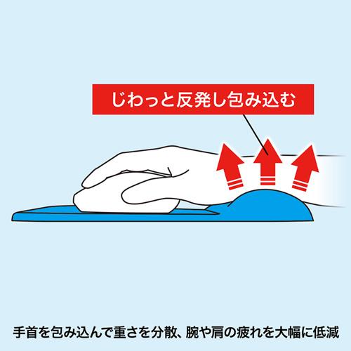 【500円OFFクーポン配布中 ~4/26 01:59まで】低反発リストレスト付きマウスパッド(ブルー) MPD-MU1NBL サンワサプライ
