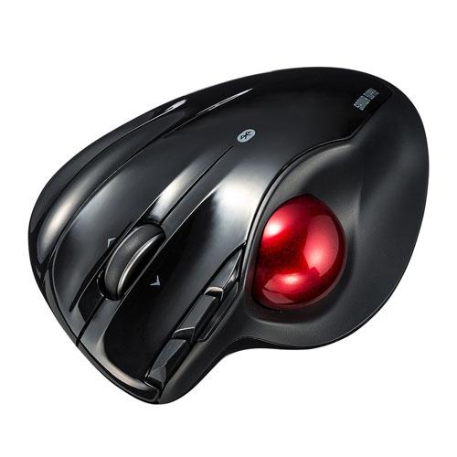 ワイヤレストラックボール(Bluetooth4.0・レーザーセンサー・横スクロール・ブラック) MA-BTTB1BK サンワサプライ