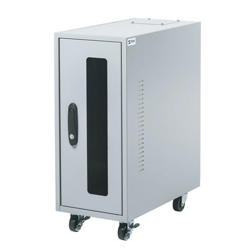 ハブ収納ボックス(防塵・簡易・鍵付き・小型・2U)【配達時間指定不可】【代引き不可商品】 MR-FAHBOX2U サンワサプライ