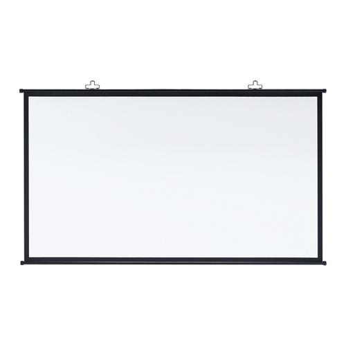 【訳あり 新品】プロジェクタースクリーン壁掛け式(アスペクト比16:9・90型相当) ※箱にキズ、汚れあり PRS-KBHD90 サンワサプライ