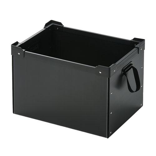 【割引クーポン配布中~4/16 01:59まで】プラダン収納ケース(マルチ・フリータイプ) PD-BOX4BK サンワサプライ
