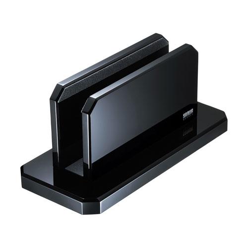 サンワサプライ 直輸入品激安 セール特別価格 PDA-STN32BK ノートパソコンスタンド タブレット対応 アクリル クラムシェルモード ブラック 縦置き 収納