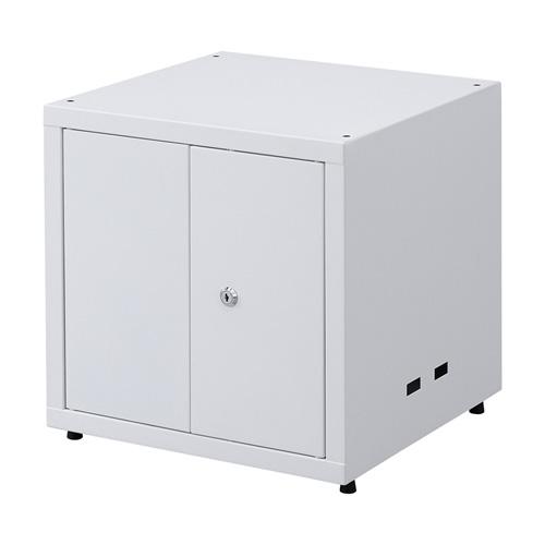 セキュリティボックス 鍵付き 棚板2枚 ゴム足付き 連結可能  RAC-SLBOX5 サンワサプライ
