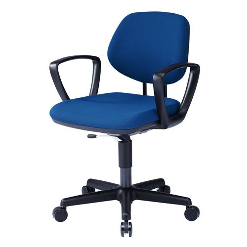 オフィスチェア(肘置き・ブルー・受注発注・特注対応) SNC-025BL サンワサプライ
