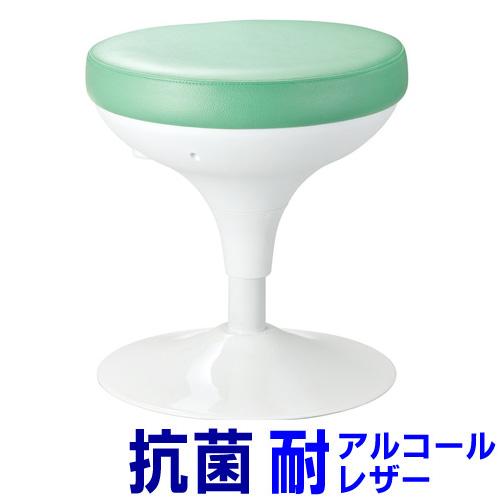 【訳あり 新品】メディカルスツール(丸椅子タイプ・上下昇降・グリーン) SNC-RD6VG サンワサプライ ※箱にキズ、汚れあり