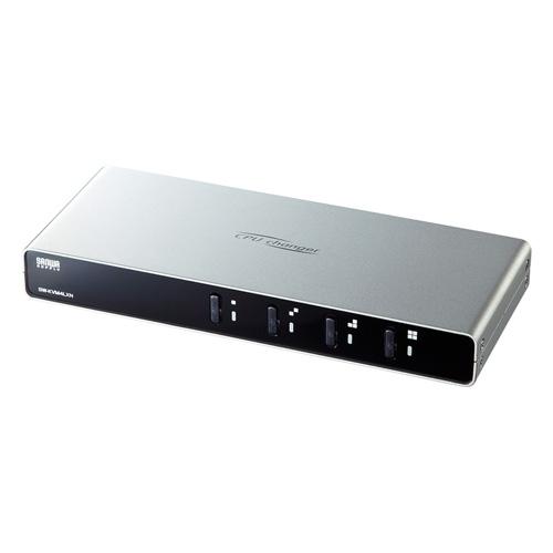パソコン自動切替器(VGA・PS/2・USB対応・4:1・切り替えロック付き) サンワサプライ SW-KVM4LXN サンワサプライ
