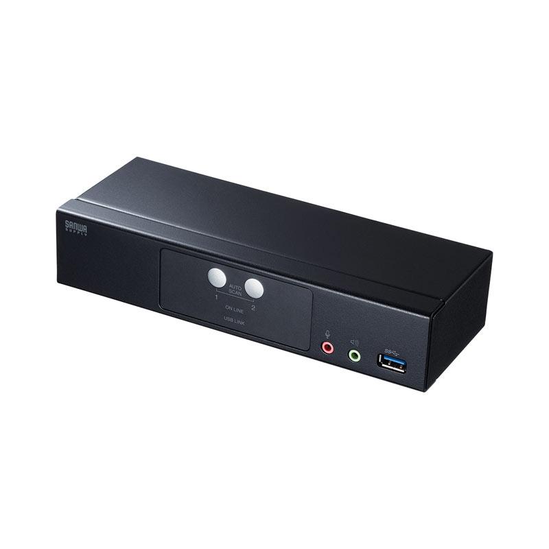 【訳あり 新品】切替器 2:1 DisplayPort対応 HDCP対応 SW-KVM2HDPU サンワサプライ ※箱にキズ、汚れあり
