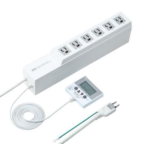 電源タップ(タイマー付き・3P・6個口・3m・トラッキング防止) TAP-RT1 サンワサプライ