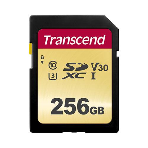 【割引クーポン配布中~4/16 01:59まで】Transcend SDXCカード 256GB Class10 UHS-I V30 TS256GSDC500S【ネコポス対応】