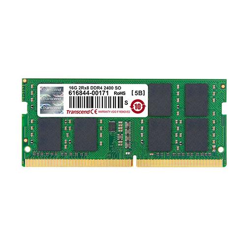 【割引クーポン配布中~1/16 01:59まで】Transcend ノートPC用増設メモリ 16GB DDR4-2400 PC4-19200 SO-DIMM TS2GSH64V4B【ネコポス対応】