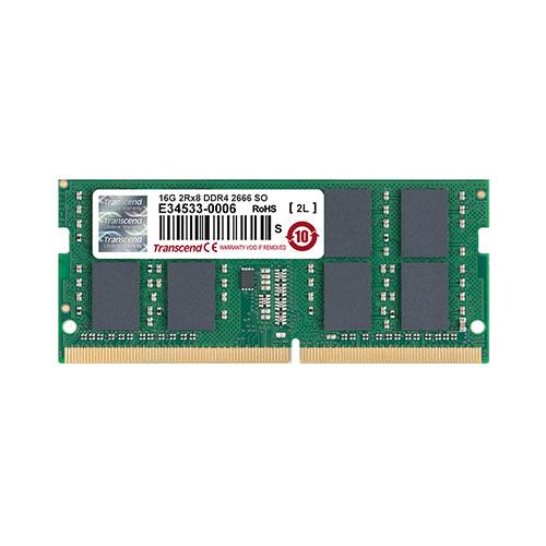【割引クーポン配布中~4/16 01:59まで】ノートPC用メモリ 16GB DDR4-2666 PC4-21300 SO-DIMM トランセンド TS2GSH64V6B【ネコポス対応】
