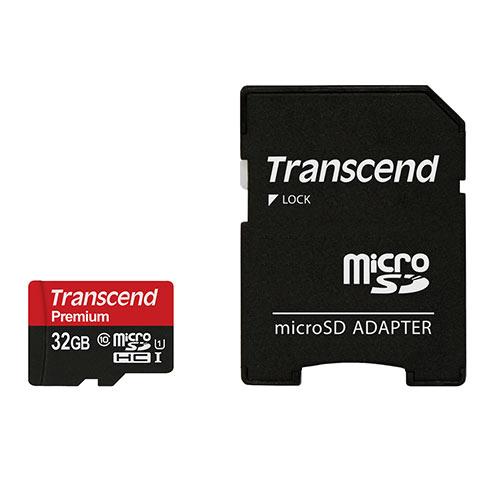 Transcend microSDHCカード 特売 32GB Class10 UHS-1対応 SDカード変換アダプタ付 TS32GUSDU1 高品質 400x ネコポス対応