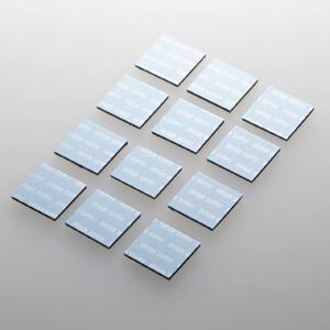 暑さ対策セール商品 限定品 サンワサプライ TK-CLNP12BL 小さいパッドを機器に貼るだけで強力放熱 ノートパソコン冷却パット 17mm ネコポス対応 12枚入り 誕生日/お祝い ブルー 角型