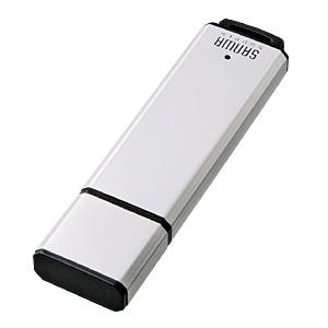 USBメモリ(32GB・シルバー・アルミタイプ UFD-A32G2SVK サンワサプライ【ネコポス対応】