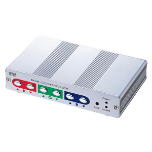 映像信号を延長した際に発生する色のズレやゴーストなどを解消する、ディスプレイ信号補正コントローラー VGA-EXC サンワサプライ