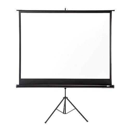 プロジェクタースクリーン 100インチ 4:3 三脚式 自立式 ハンドル付き スリム コンパクト収納 会議室 プレゼン ホームシアター EEZ-PRS005