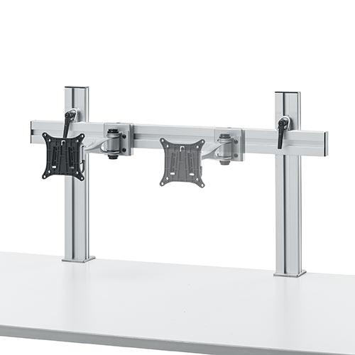 モニターアーム用支柱+設置用バー単体 モニターアーム ハンギングバー 専用 クランプ 幅80cm EZ1-LA036