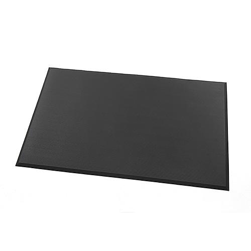 疲労軽減マット(腰痛対策・滑り止め・立ち仕事対策・耐水・耐油・耐菌性・幅150cm・ブラック) EZ1-MAT011