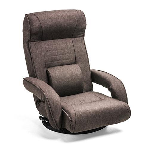回転座椅子(リクライニング・肘掛け・ポケットコイル・ヘッドレスト・ランバーサポート・ブラウン) EZ15-SNCF011BR