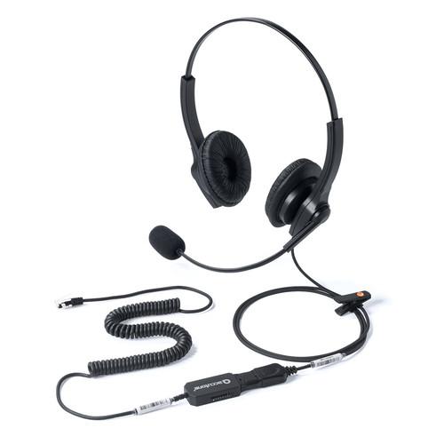ヘッドセット 固定電話用 RJ-9接続 マイク 新作続 コールセンター ショッピング 400-HS041 両耳タイプ