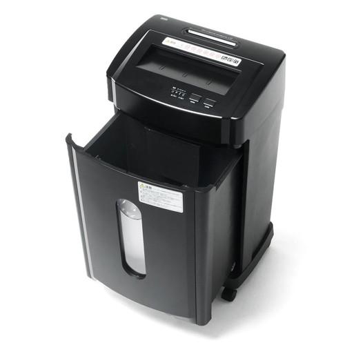 【割引クーポン配布中~4/16 01:59まで】電動シュレッダー(業務用・マイクロクロスカット・A4・ホッチキス対応・CD/DVD/カード細断対応・12枚細断・15分連続使用) EZ4-PSD028