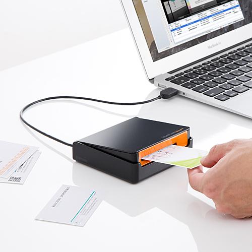 名刺管理スキャナ 名刺スキャナー USB接続 OCR搭載 Win&Mac対応 EZ4-SCN005N