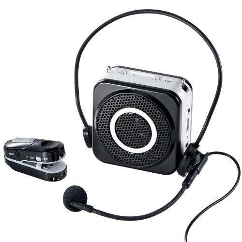拡声器 ワイヤレス 10W 小型 マイクセット ハンズフリー 最大20m イベント 選挙 EZ4-SP048