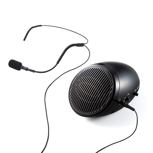 拡声器 20W 小型 マイク セット ハンズフリー AC電源 電池 イベント 講演 選挙 ショルダーベルト付 EZ4-SP062