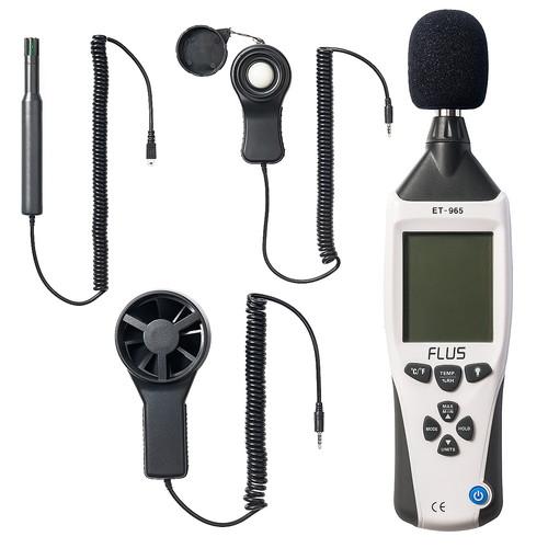 騒音計/温湿度計/照度計/風速計(1台5役マルチ測定器・電池駆動・専用ケース付) EZ4-TST965