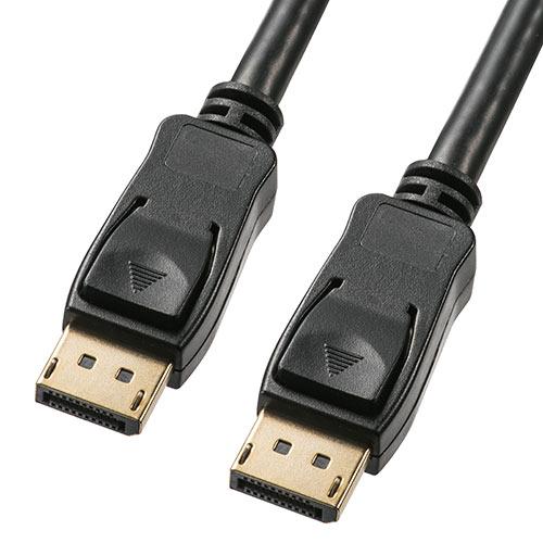 ●手数料無料!! 4K 60Hzに対応した DisplayPortケーブル 最大21.6Gbpsの伝送速度に対応し ディスプレイポートケーブル バージョン1.2準拠品 500-KC026-75 ブラック 卸売り 7.5m