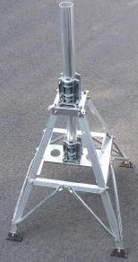 【沖縄県への発送不可】【代引・後払い・時間指定・他の商品同梱発送不可】クリエートデザイン CR-9A (CR9A)非回転型ルーフタワー(クランプ頂部1.0m)メーカー直送になります