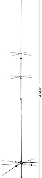 【ご予約・ポイント5倍】CP-6S(CP6S)第一電波工業(ダイヤモンド)固定局用アンテナ 3.5/7/14/21/28/50MHz6バンドグランドプレーン(GP)