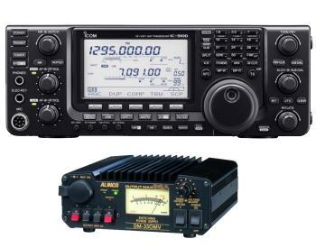 アイコムIC-9100M&DM-330MVHF~50/144/430MHz(+1200MHz)オールモード50W アマチュア無線機30A スイッチング電源セット