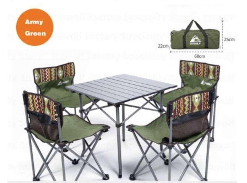 椅子4脚 テーブルセット ピクニックやアウトドアで活躍します!