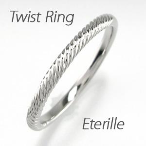 【10%OFF】リング プラチナ ダイヤモンド 指輪 レディース 地金 縄模様 スレンダーアーム プラチナ 重ねづけ