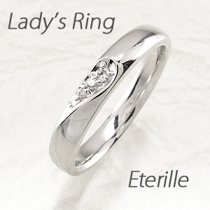 【10%OFF】ダイヤモンド リング 指輪 レディース シンプル 甲丸 ハート 地金 プラチナ マリッジダイヤモンド リング 指輪 結婚指輪