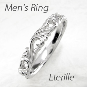 【10%OFF】ダイヤモンド リング 指輪 メンズ アンティーク 透かし アンティーク アラベスク 地金 マリッジダイヤモンド リング 結婚指輪 ゴールド 18k k18 18金