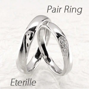 【10%OFF】ペアリング 刻印 ゴールド ダイヤモンド 結婚指輪 マリッジリング ハート k18 18k 18金