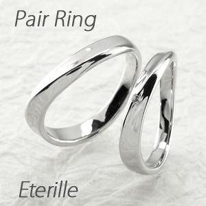 【10%OFF】ペアリング 刻印 ゴールド ダイヤモンド 結婚指輪 マリッジリング カーブ ウェーブ k18 18k 18金