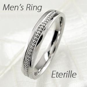 【10%OFF】ダイヤモンド リング 指輪 メンズ 地金 アンティーク ミル打ち マリッジダイヤモンド リング 結婚指輪 プラチナ pt900