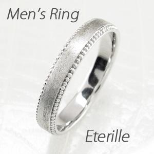 【500円OFFクーポン】ダイヤモンド リング 指輪 メンズ アンティーク ミル打ち つや消し マリッジダイヤモンド リング 結婚指輪 ゴールド 18k k18 18金