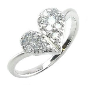 【10%OFF】ダイヤモンド リング 指輪 レディース ハート ミステリー プラチナ 0.3カラット