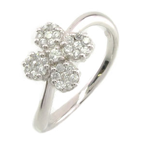 【10%OFF】ダイヤモンド リング 指輪 レディース フラワー 花 ミステリー プラチナ