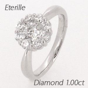 【10%OFF】ダイヤモンド リング 指輪 レディース フラワー 花 ゴージャス ミステリーセッティング プラチナ 1.0カラット