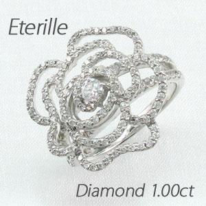 【10%OFF】ダイヤモンド リング 指輪 レディース 薔薇 ローズ 花 ゴージャス プラチナ 1.0カラット