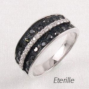 【10%OFF】ブラックダイヤモンド リング 指輪 レディース ゴージャス k18 18k 18金 ゴールド