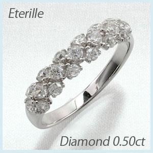 【10%OFF】ダイヤモンド パヴェ リング 指輪 レディース k18 18k 18金 ゴールド 0.5カラット