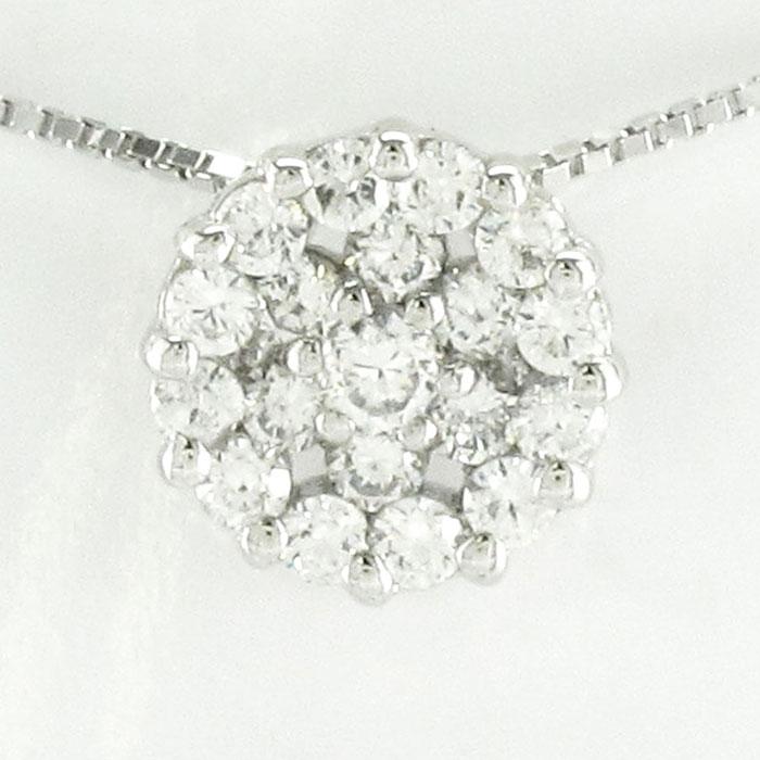 ダイヤモンド ネックレス ペンダント レディース パヴェ プラチナ サークル pt900