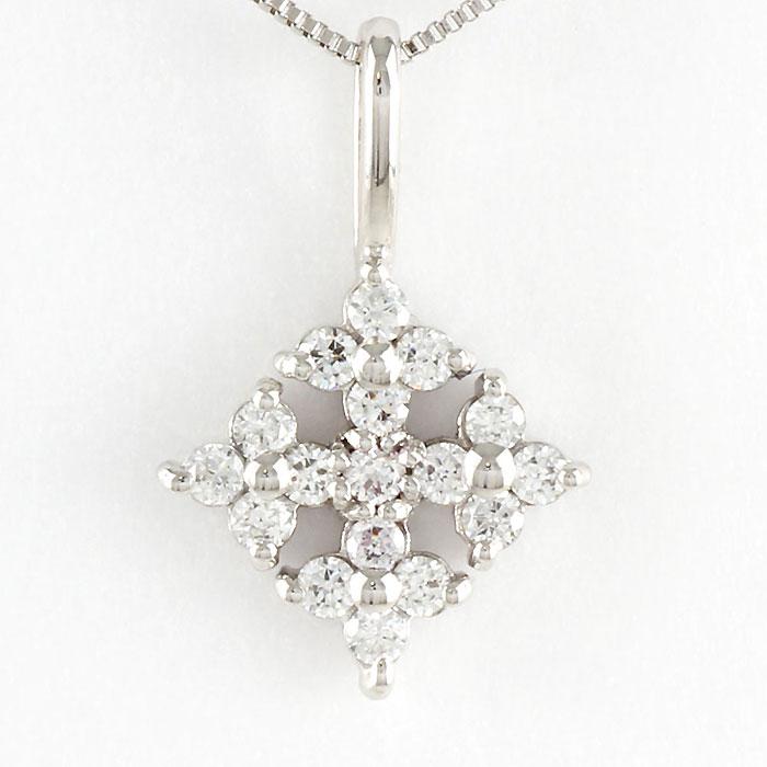 【10%OFF】ダイヤモンド ネックレス ペンダント レディース プラチナ スノークリスタル pt900