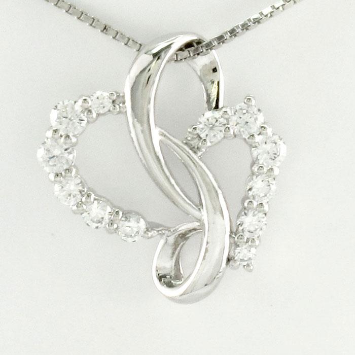 【10%OFF】ハート ネックレス ダイヤ ペンダント レディース ダイヤモンドモチーフ プラチナ pt900